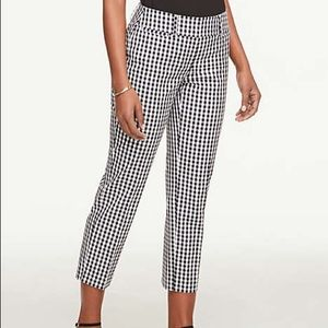 Petite Gingham Cropped Pants